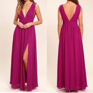Lulu's Heavenly Hues Maxi Dress Size XS in Magenta
